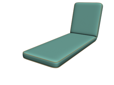Hinged Chaise Cushions