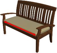 Bench Cushion Width