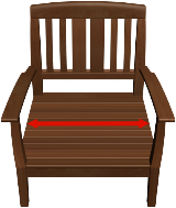 Chair Cushion Width