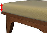 Ottoman Cushion Thickness
