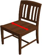 Seat Cushion Width
